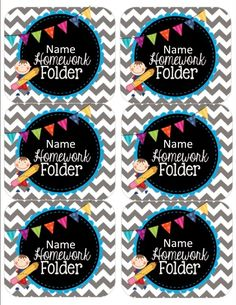 Editable Homework Folder Labels by Teach Train Triumph Classroom Labels, Classroom Organisation, Teacher Organization, Kindergarten Classroom, School Classroom, Classroom Themes, Classroom Management, Classroom Environment, Chalkboard Classroom