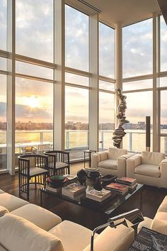 I love the double-height windows! It just emphasizes that gorgeous view even more.