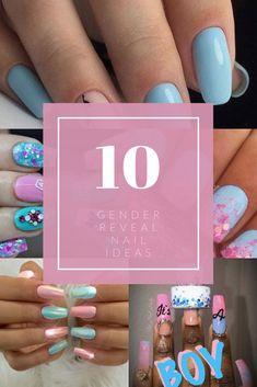 Gender Reveal Nails | Gender Reveal Nail ideas | Gender Reveal Nail Art  #genderrevealnails #genderrevealnailideas #genderrevealnailart