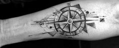 40 Geometric Compass Tattoo Designs For Men – Cool Geometry Ideas Geometric Compass, Geometric Sleeve Tattoo, Geometric Arrow Tattoo, Geometric Tiger, Simple Compass Tattoo, Compass Tattoo Design, Arrow Tattoo Design, Feminine Tattoos, Trendy Tattoos