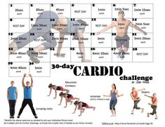 30-Day Cardio Challenge, starting today, oh pinterest how do I live without you?