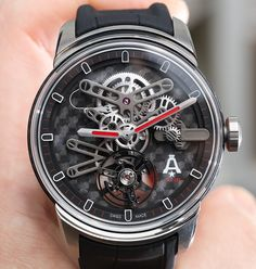 Our Bilal Khan goes Hands-On with the 2017 Angelus U21 tourbillon & U22 tourbillon watches. With a full carbon fiber main plate, totally viewable movements and a flying tourbillon.