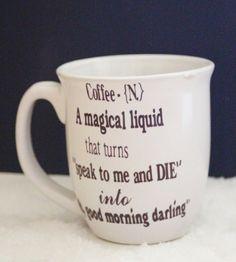 Personalized Coffee Mug by BigDDesign on Etsy, $5.00