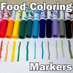 DIY food-color writers. I have done this before and now someone made an instructable, so now you can have your cake and write a colorful flavored blog too.
