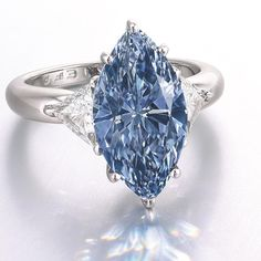 A 4.26-carat fancy blue diamond, in the upcoming Christie's jewelry auction.