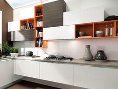 Cozinha integral lacada de madeira ESSENZA   Cozinha integral by Cucine Lube