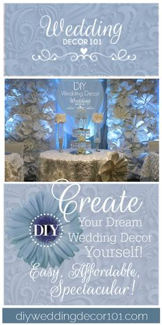 Relax get the diy dream wedding decor blueprint and your dream the bella blossom collection big beautiful blossoms nestled together to give you a romantic backdrop make this yourself malvernweather Gallery