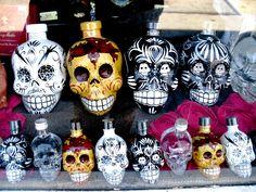 """""""Skull"""" tequila bottles"""