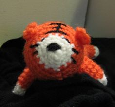 NOTE: This is the PATTERN for Sleepy tiger  Sleepy tiger is done with the basis crochet techniques of chaining, single crochet and slip stitch. He is 8 inches long. Youll be able to download the PDF file as soon as you have completed your purchase. If you run into any problems while downloading the pattern, please refer to the link below.  https://www.etsy.com/help/article/3949  NOTE: This pattern is for personal use ONLY!  ~~ If you have any question, please feel free to contact me or start…