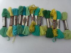 13 Skeins Of Rich Persian 100% Virgin Wool Brunswick/Brunsana Needlepoint & Crewel Yarn  $13.00/FS