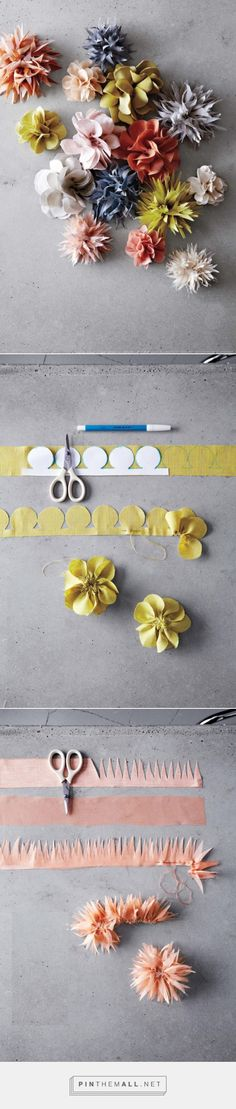 Pansy and Dahlia Fabric Flower Tutorial - Flax & Twine