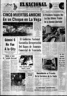 Inauguración de los últimos tramos de la Av. Libertador. Publicado el 13 de diciembre de 1965.