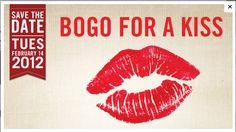Cute BOGO for a Kiss Valentine's Day Promo