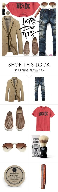"""""""Newchic"""" by teoecar ❤ liked on Polyvore featuring Gap, Ray-Ban, Hawkins & Brimble, Taylor of Old Bond Street, Baxter of California, men's fashion and menswear"""