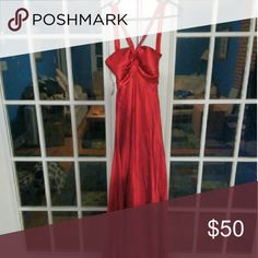 Formal Gown Red satin Dresses Prom