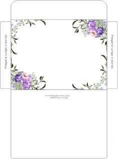 Envelope Template Printable, Printable Box, Printables, Diy Envelope, Envelope Design, Paper Flower Patterns, Cross Stitch Bookmarks, Diy Gift Box, Bullet Journal Ideas Pages