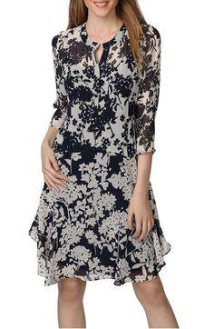 Main Image - Donna Morgan Mix Print Chiffon A-Line Dress