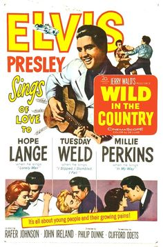 Elvis Movie Poster - Wild in the Country - 1961