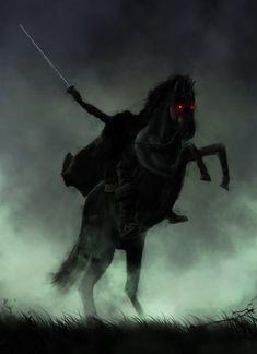 Headless Horseman Speedy by on DeviantArt Happy Halloween, Halloween Horror, Vintage Halloween, Halloween Artwork, Halloween Pictures, Cthulhu, Dark Fantasy, Fantasy Art, Sleepy Hollow Headless Horseman
