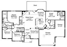Put basement stairway where formal dining room is.  First Floor Plan of Ranch   House Plan 50117