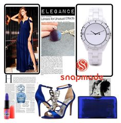 """""""Snapmade #3"""" by s-o-polyvore ❤ liked on Polyvore featuring BARIANO, Badgley Mischka, Charlotte Olympia, MAC Cosmetics and Marc Jacobs"""