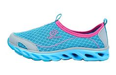 Womens Mesh Slip On Water Shoes Aqua Socks Barefoot Trail Running Sneaker Size 38 Blue * Details can be found by clicking on the image. (This is an affiliate link)