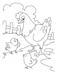 Duck And Chick Coloring Pages
