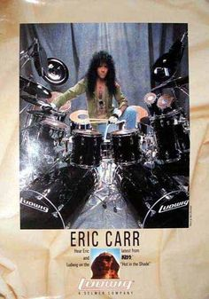 Eric Singer, Kiss Members, Hair Metal Bands, Ludwig Drums, Country Bands, Eric Carr, Paul Stanley, Kiss Band, Hot Band
