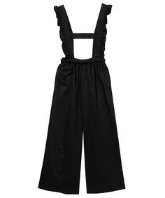 FRILL WIDE PANTS (BLACK-1)