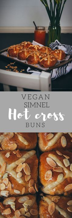 Vegan hot cross buns crossed with a simnel cake - yum!
