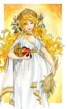 Demeter - Greek Goddess of Harvest by Neith / ooneithoo