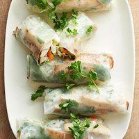 Spiced Tofu Spring Rolls (sub. GF Tamari)