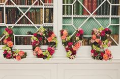 Paeony Floral Design - Love sign made of flowers