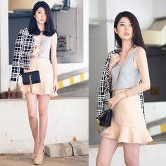 Megan Ng - Megagamie Flutter Asymmetrical Skirt, Megagamie Blazer - Last outfit in 2014