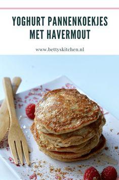 Yoghurt pannenkoekjes met havermout (suikervrij) Cooking Recipes, Healthy Recipes, Pancakes, Bakery, Lunch, Beef, Breakfast, Morning Coffee, Crepes