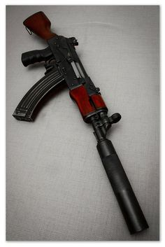 AK-47 with silencer - Humberto Santos