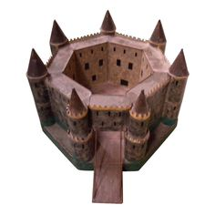 Antique and Vintage Models and Miniatures - For Sale at Wooden Castle, Toy Castle, Castle Project, French Castles, Modern Toys, Small Places, Art Object, Old Toys, Vintage Toys