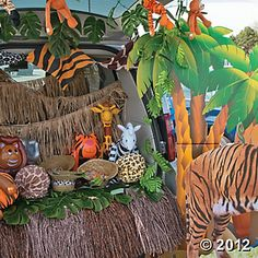 Safari Trunk or Treat Car Decorations