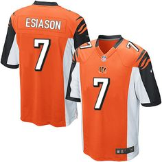 Nike Game Boomer Esiason Orange Men s Jersey - Cincinnati Bengals  7 NFL  Alternate Nfl Store 4d2e71306