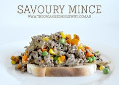Savoury Mince Serves: 4-5 Prep Time Cook Time Total Time 5 mins 15 mins 20 mins Ingredients 1 tablespoon oil 1 onion, diced…