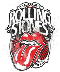 Rolling Stones Iron On Transfer For T-Shirt & Other Light Color Fabrics Logo Rolling Stones, Rock Music History, Rock Band Posters, Wal Art, Vintage Music Posters, Band Wallpapers, Caricatures, Photo Wall Collage, Heavy Metal