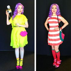 Doe Deere's outfits from Generation Beauty weekend. Can you guess what each was inspired by?