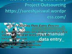 We Are Offering Data Entry Work