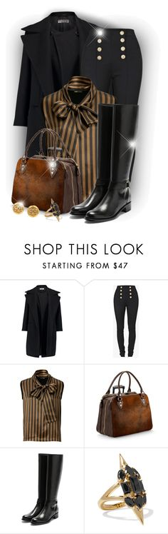 """Knee-high Boots"" by elona-makavelli ❤ liked on Polyvore featuring Jil Sander, Balmain, Fendi, Aspinal of London, Rupert Sanderson, Noir Jewelry and Chanel"