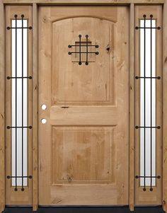 Discount Tall Rustic Knotty Alder Wood Door Unit with Sidelites Internal Doors Modern, Modern Entry Door, Internal Wooden Doors, Wood Entry Doors, Pine Doors, Barn Doors, Cheap Interior Doors, Custom Interior Doors, Interior Design