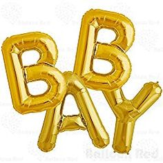 Baby Shower Foil Mylar Balloons Banner for Party Wall Decoration (Premium Quality), Boy Footprint Set pcs) Gold Confetti Balloons, Helium Balloons, Baby Shower Balloons, Foil Balloons, Free Baby Shower Printables, Baby Shower Activities, Balloon Banner, Letter Balloons, Party Wall Decorations