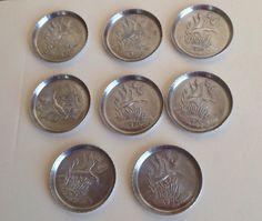 Set of 8 Vintage Aluminum Duck Coasters by ContemporaryVintage, $15.00