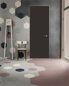 Xgone by DEFERRARI+MODESTI  #adidesignindex2015 #xgone #tile #hexagon #color #house #gres #mirage