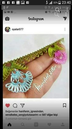 This Pin was discovered by Ahm Needle Lace, Tatting, Diy And Crafts, Crochet Earrings, Crochet Patterns, Embroidery, Instagram, Cases, Crocheting