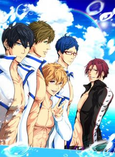 Free! ~~ Five gorgeous guys who are usually shirtless.